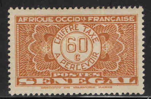 Senegal Scott J28 MH* 1935 postage due