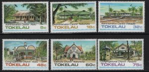 Tokelau  120-125 (6) SET, HINGED, 1985 Public buildings and churches