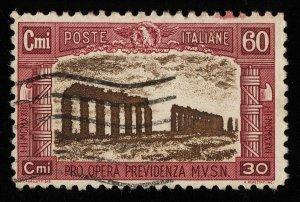 01736 Italy Scott B27 60c semipostal used, light cancel