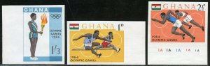 GHANA  1964 OLYMPIC GAMES SET IMPERFORATED MINT NEVER HINGED