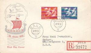 Norway Scott 353-354 Typewritten Address.