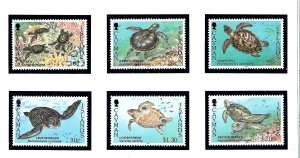 Cayman Is 693-98 MNH 1995 Sea Turtles