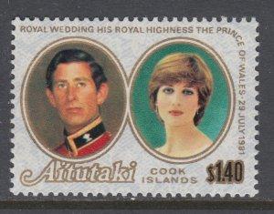 Aitutaki 249 Royal Wedding MNH VF