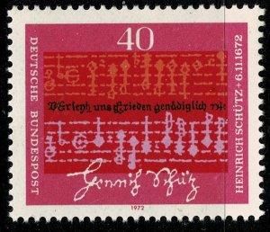 GERMANY 1972 300th DEATH ANNIVERSARY of HEINRICH SCHUTZ SG 1635 MINT (NH) SUPERB