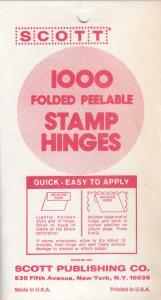 1 PACK OF SCOTT STAMP HINGES MADE BY DENNISON FOR SCOTT 1000 FOLDED