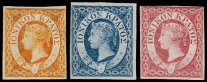 Ionian Islands Scott 1-3 (1859) Mint H F-VF, CV $203.00 C