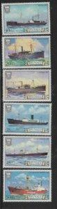 TUVALU #216-221 1984 SHIPS MINT VF NH O.G