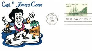 1978 Honolulu Hawaii Captain James Cook Anniversary Postal First Day Cover