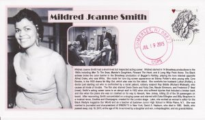 6° Cachets Mildred Joanne Smith memorial African-American actress No Way Out