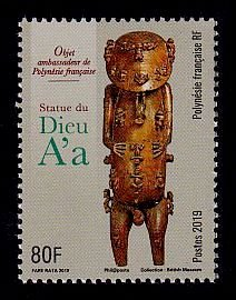 French Polynesia Sc# 1241 MNH Statue of God A'a
