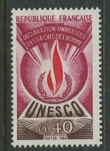 France Unesco - Scott 210 - Unesco Issue -1969 - MLH - Single 40c Stamp
