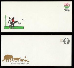 UNITED STATES (103) Postal Stationery stamped envelopes ALL Unused MNH