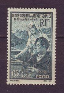 J24630 JLstamps 1938 france set of 1 mh #b78 nurse student