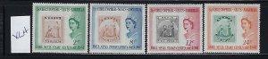 ST. KITTS NEVIS SCOTT #139-142 1961 NEVIS STAMP CENTENARY  - MINT LIGHT HINGED