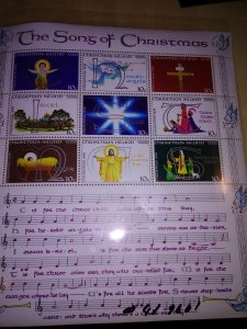 the Songs of Christmas Souvenier Sheet from Christmas Island