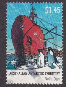 Australian Antarctic Territory # L123, Ship Nella Dan, Used, 1/3 Cat.