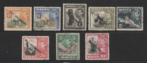 Malta a small used lot from the self-government overprint set