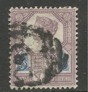 GB 1888 QV 5d Purple/Blue DIE 2 Jubilee SG 207a ( 694 )