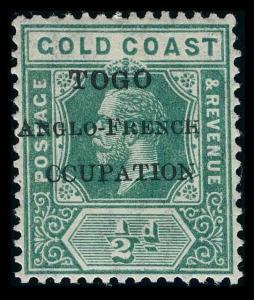 Togo Scott 66 Variety 4 Gibbons 34f Mint Stamp
