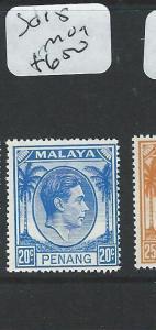 MALAYA PENANG (P1108B) KGVI 20C  SG 15   MOG