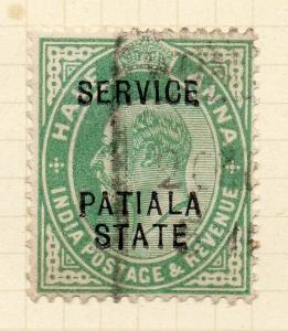 Indian States Patiala 1903 Early Issue Fine Used 1/2a. Optd 075614
