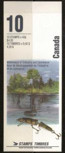 CANADA SGSB155 1992 RIVERS 2nd SERIES BOOKLET MNH