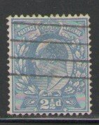 Great Britain Sc 131 1902 2 1/2d ultra Edward VII stamp used