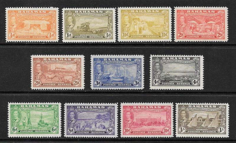 Bahamas  #132-142  Mint NH