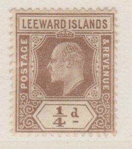 LEEWARD ISLANDS 1907-11 1/4d Very Fine Used A8P11F146