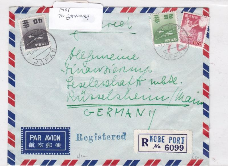 Japan to germany  1961 Stamps Cover Ref 8541