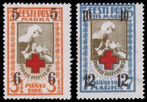 Estonia Scott B13-14 (1926) Mint H F-VF