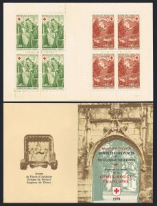 France B443a booklet,MNH.Michel 1733-1734 MH. Red Cross-1970.Dissay Chapel.