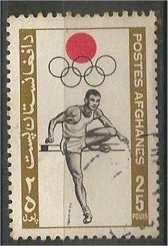 AFGHANISTAN, 1964, used 25p, Olympic Games,, Scott 690
