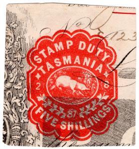 (I.B) Australia - Tasmania Revenue : Impressed Duty 5/-