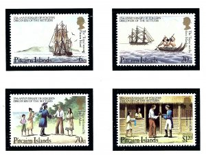 Pitcairn Is 225-28 MNH 1983 Anniv of Discovery of Settlers          (KA)