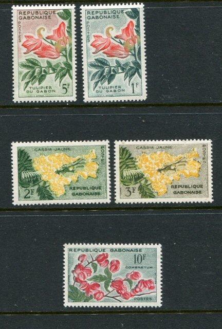 Gabon #154-9 Mint