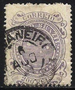 Brazil 1890 Scott# 103 Used