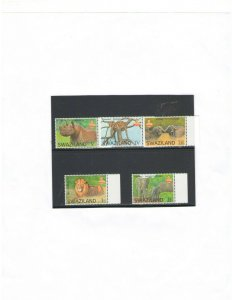 SWAZILAND: NEW ISSUE   / ** THE BIG 5 ANIMALS **  / Set of 5 -MNH.