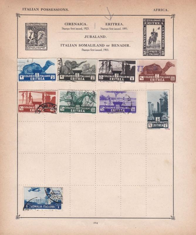 eritrea stamps page ref 17599