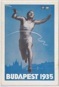 51061 -  HUNGARY -  POSTAL HISTORY - UNIVERSITY GAMES Athletics 1935 - RARE!!