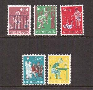 Netherlands  #B336-B340  MNH  1959   Child welfare
