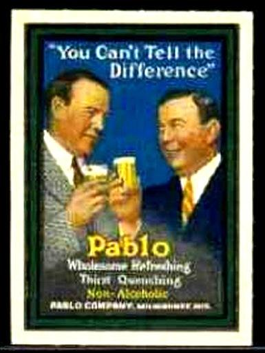 Pablo Non-Alcoholic Beer Advertising Poster Stamp