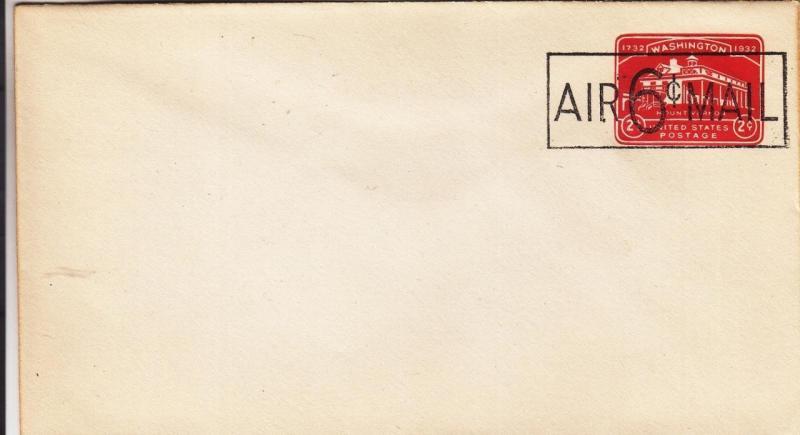US Stationary, Sc #UC9, 6c Overprint, Mint Envelope (27864)