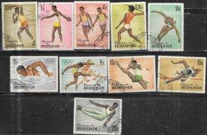 Burundi #101-110  1964 Olympic Games  (CTO) CV $2.95