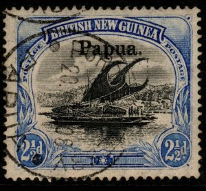 PAPUA SG24 1906 2½d BLACK & ULTRAMARINE USED