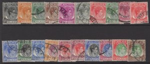 MALAYA MALACCA SG3/17 1949-52 DEFINITIVE SET USED