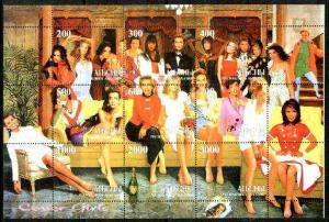 Abkhazia 1999 Cover Girls (Models) composite perf sheetle...