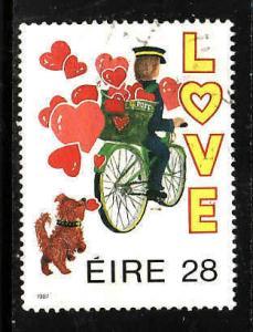 Ireland-Sc#680-used 28p Postman-Love-1987-
