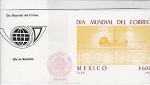 mexico 1987 atm stamps cover ref 19289