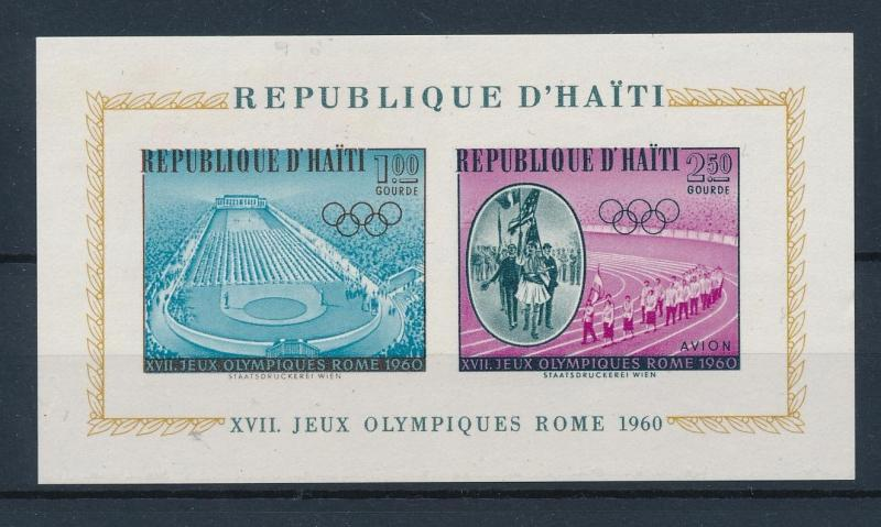 [44319] Haiti 1960 Olympic games Rome Stadium MNH Sheet